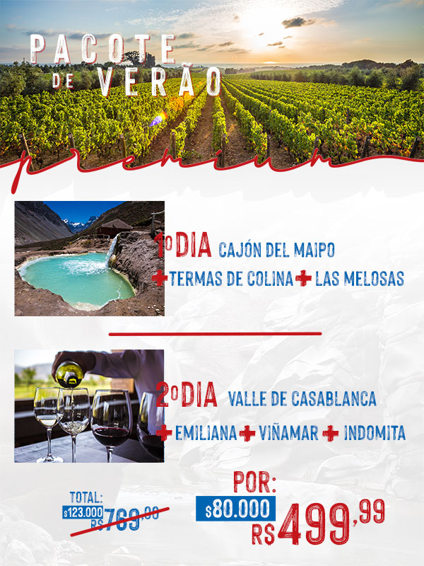 Pacotes Turistando Chile - PREMIUM