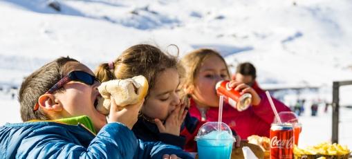 Chile com crianças no inverno