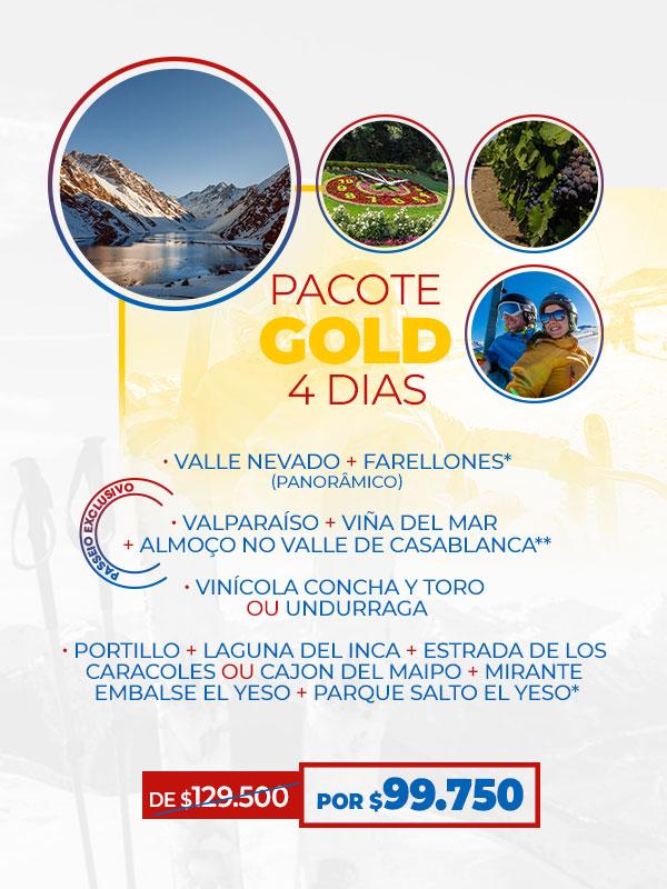 Pacotes para o Chile - VAI FICAR DE FORA? PACOTE GOLD