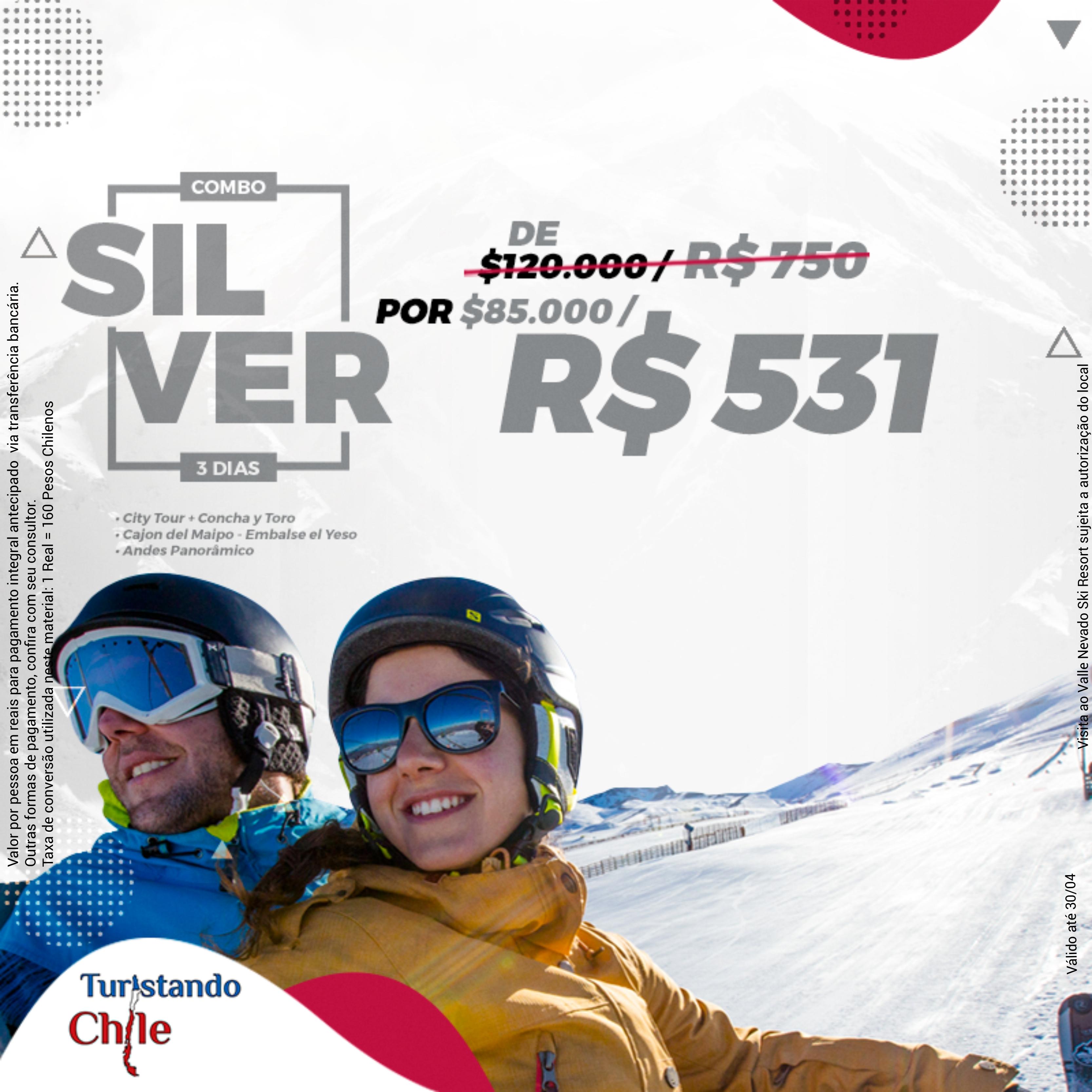Pacotes Turistando Chile - Combo Silver
